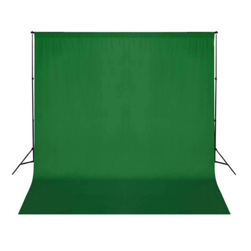 Fond de studio photo vert 300 X 300 cm (sans support)